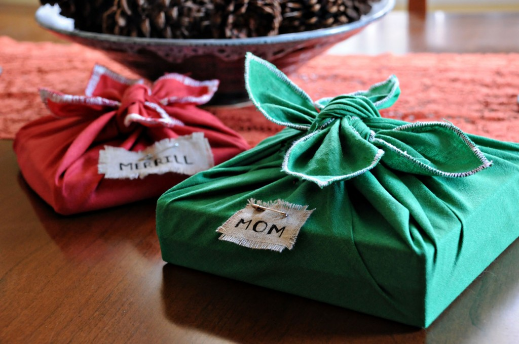 بسته بندی هدیه با پارچه