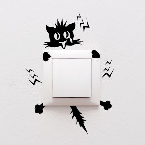 Wall Plug Decal Sticker